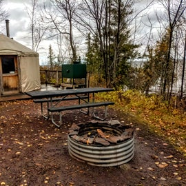 Yurts for rent in the campground.