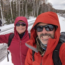 The weather in late October can be brutal!  We had every stitch of our winter gear on and we were still cold.