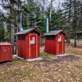 Pit toilets if you prefer, especially during COVID.