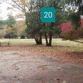 20 Wolf Den campground at Mashamoquet Brook SP