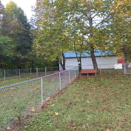 Split fencing on a hill, nothing else
