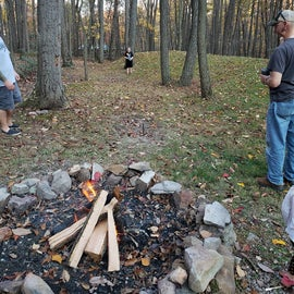 one fire pit area with horse pit