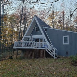Rear of cabin from back yard