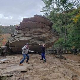 Holding up Balanced Rock
