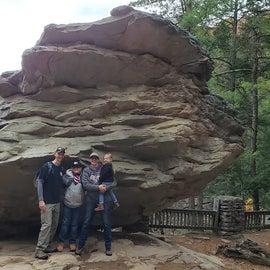 Family photo at Balanced Rock