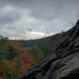 View from top of one trail at Trough Creek State Park