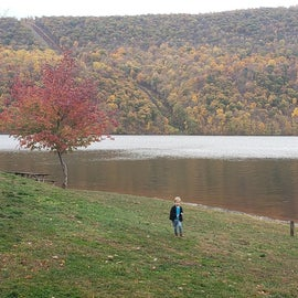 Beach area at Raystown Lake