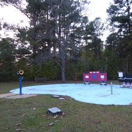Children's splash pad in the campground