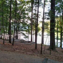 Tent sites by the lake