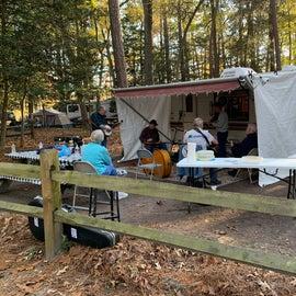 Informal Bluegrass group entertained us.