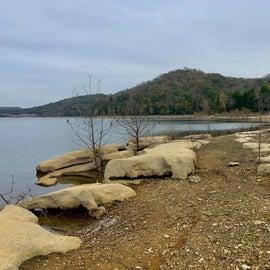 Lake below site 50