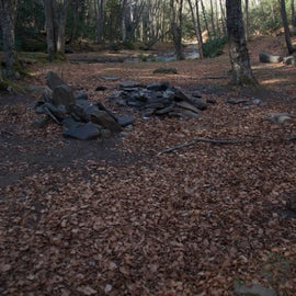 Example of one of the campsites along the trail.