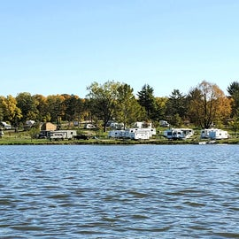 View of the campground from the water