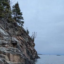 Just below campsite C11 on the shoreline