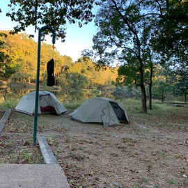 Camp site on the lake