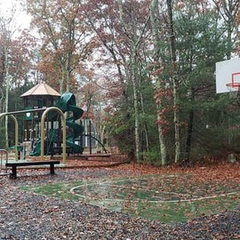 Beautiful new playground and basketball court. This is in section 2.