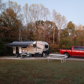 Lovely campsite at Leesville Lake Campground.