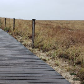 Boardwalk provides some protection for the dunes as you head to the beach