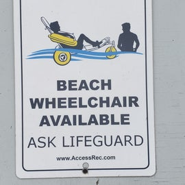 Beach wheelchairs make the area more accessible