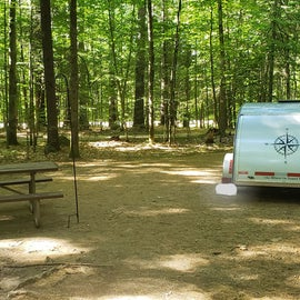 Plenty of space at my campsite! Site 9 Campton Campground, WMNF