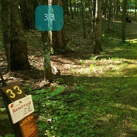 33 Campton Campground, WMNF