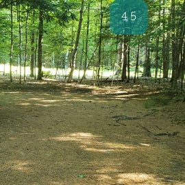 45 Campton Campground, WMNF