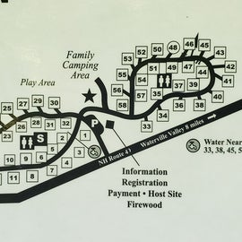 Note the layout; sites in the back offer a little more privacy. There's at trail that runs through the center of the loop toward the restrooms.
