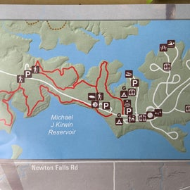 Map of the hiking trails and frisbee golf (in the woods!)