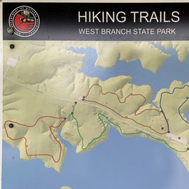 Detail of the hiking trails