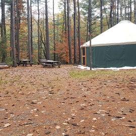 Yurt for 10  Willard Brook State Forest