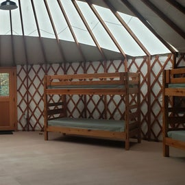 Yurt for 10  Willard Brook State Forest. $90 for MA residents; $230 for out of state (based on your care license plate)