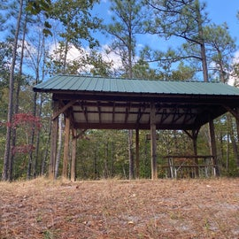 This is a little picnic area at the trailhead.