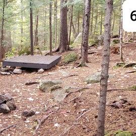 Tent site 6 Sawyer Pond