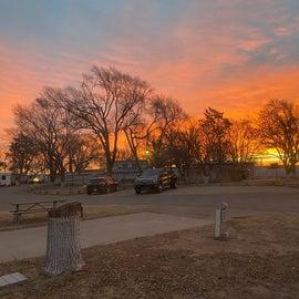Sunrise at Lubbock RV Park, 12/2020