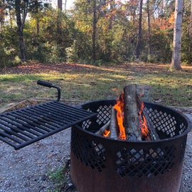 Heavy Duty fire ring with swing cooking grate.
