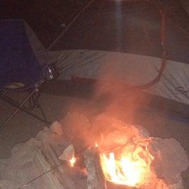 our campfire a blazing