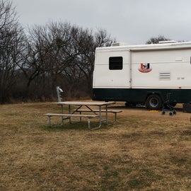 Very big sites with fire ring, bbq pit and picnic table