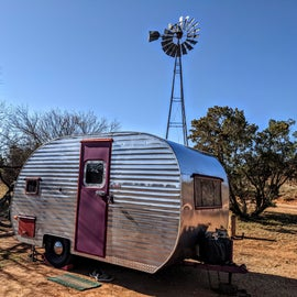 Try not to get this campsite if you can.  While quaint, this windmill is rather squeaky and will keep you awake at night.