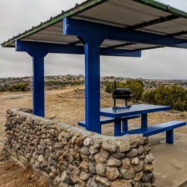 Each site by the water has a structure like this.