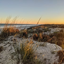 Sunset on top of the dunes.