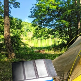 We bring our solar panel and power bank with us all the time, even kayaking.
