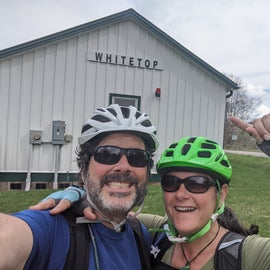 This time, we cycled UP to White Top station then coasted down!