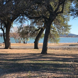 View of the lake from the campsite