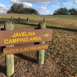 Javelina Campground signage