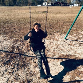Barbara swinging!