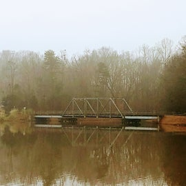 One of the two bridges over the pond