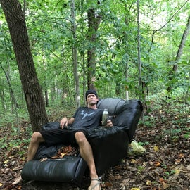 Found this crazy chair in the middle of nowhere on the hiking trails.