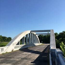 The last Marsh Bridge on all of Route 66 is close to town.