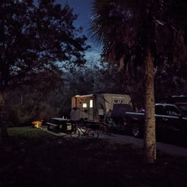 Site 26 at night
