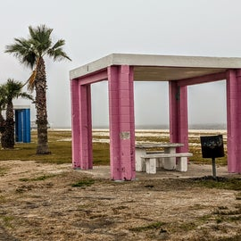 These quaint picnic shelters line the coast.  Can be used for the day or you can camp right next to one.